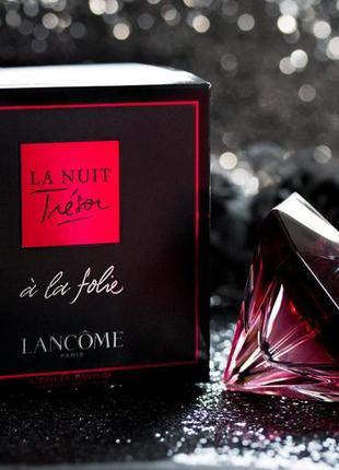 Lancome _la nuit tresor a la folie \ original eau de parfum