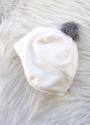 Стильная теплая шапка с бубенцом f&f