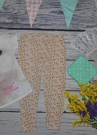 6 лет 116 см модные фирменные легинсы лосины девочке цветы