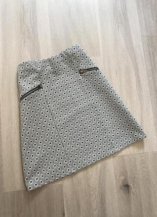 Нова спідниця юбка трапеция в принт на резинці new look