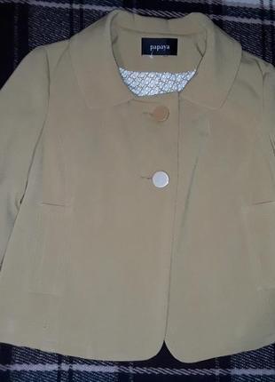 Укороченный жакет/пиджак,короткое пальто papaya