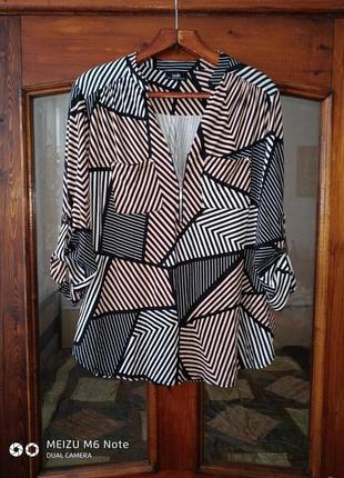 "Блуза "" абстракт "" большого размера"