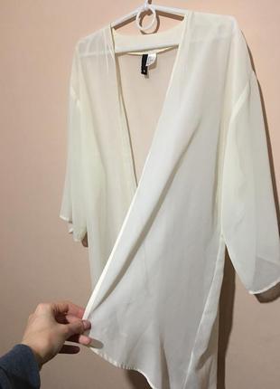 Кимоно накидка h&m divided цвета айвори