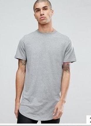 Удлинённая футболка jack&jones s и м