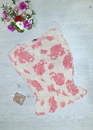 Легкая стильная блуза, топ, майка, принт цветы