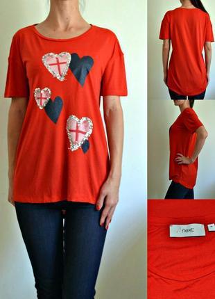 Красная футболка с удлиненной спинкой