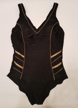 Сдельный купальник/чёрный сдельный купальник/чёрно-золотистый сдельный купальник