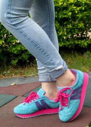 Стильные кроссовки из натуральной кожи!последняя пара!!!