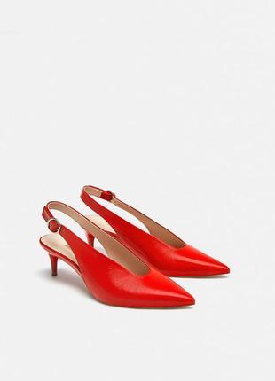 Туфли из натуральной кожи zara1