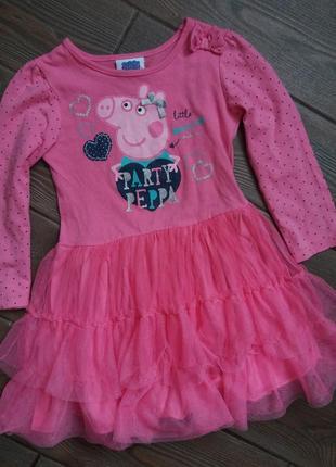 Шикарное платье george  свинка пеппа 3-4года