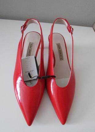 Туфли из натуральной кожи zara5