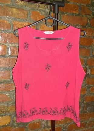 Блуза топ с цветочным принтом большого размера