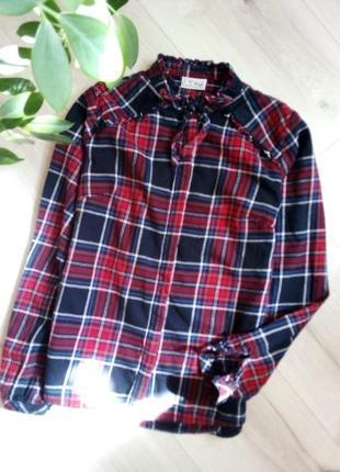 Рубашка в модную клетку для девочки