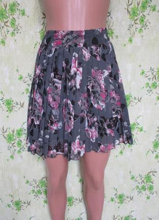 74002f8a964 Шифоновая юбка плиссе в цветочный принт юбка в складку