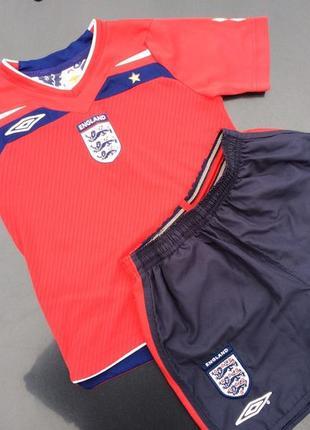 Футбольная форма umbro сборной англии  на рост 110-116 см.
