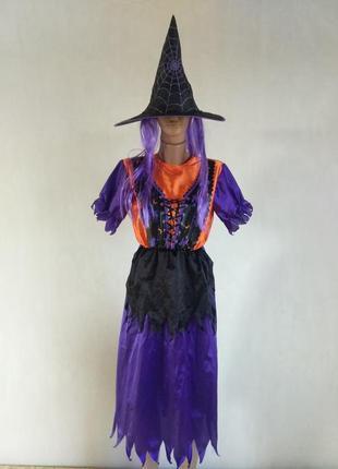 Карнавальное платье ведьма колдунья s m l