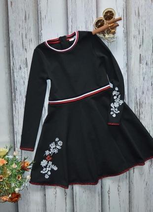 9-10  платье с вышивкой m&s