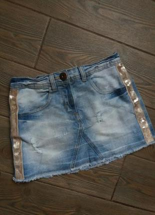 Джинсовая юбка next 134-140см 9-10лет в отличном состоянии