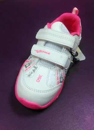 Светящиеся кроссовки 25,26 р. bona на девочку, бона, кросовки, мигающие, светят, кросівки