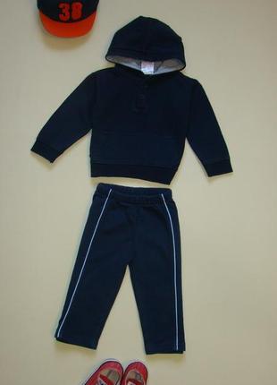 Спортивный костюм / комплект малышу 6-9 мес брюки  + толстовка peacocks