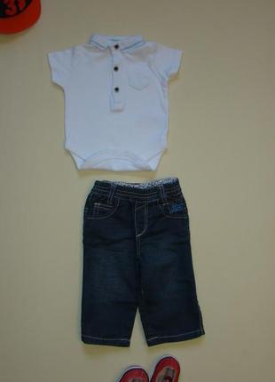 Комплект малышу 1-3 / 3-6 мес джинсы ikks + боди поло next в подарок