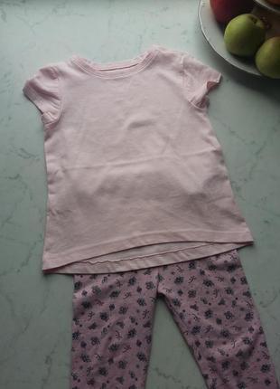 Яркая футболка  для маленькой модницы vertbaudet на 3-4 года