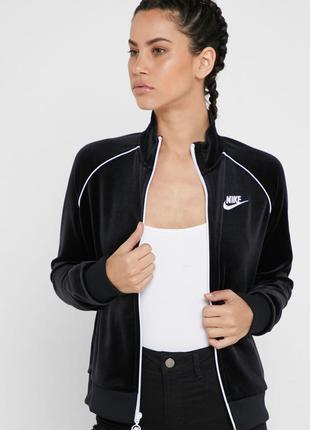 Кофта толстовка свитшот nike velour track jacket (xs-s-m-l) оригинал!! -15%