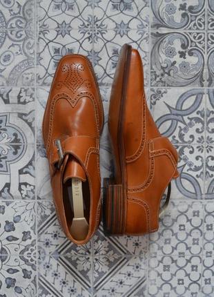 Новые мужские кожные туфли монки броги stemar (moreschi) из натуральной кожи ручной работы