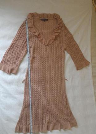 Неймовірне в'язане нюдове плаття