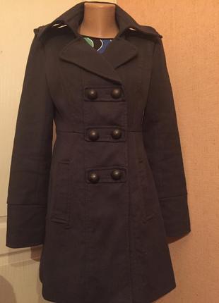 Хлопковое френч пальто