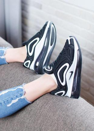 Шикарные кроссовки nike air max 720 black white3 фото
