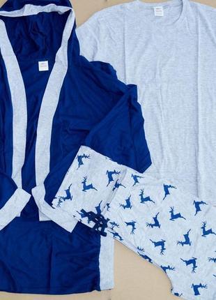 Комплект пижамный из 4 элементов для мужчин из англии размер м и л