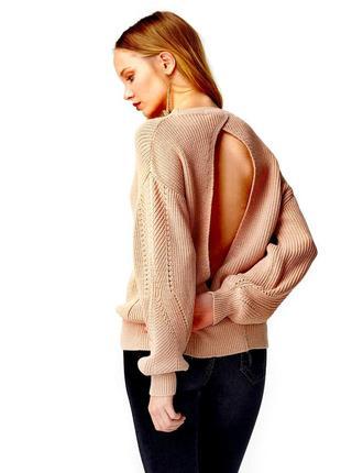 Крутой свитер dilvin с открытой спиной
