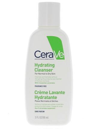 Увлажняющий крем-гель для очищения сухой, чувствительной и нормальной кожи,cerave®, 88мл