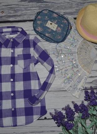 4 года 104 см фирменная рубашка блузка модная и эффектная клетка