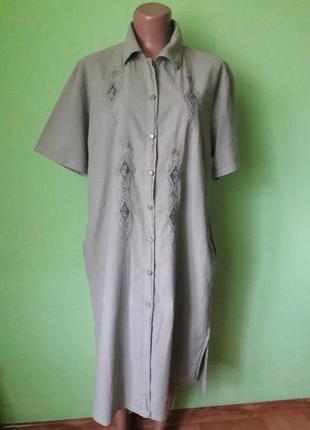 Винтажное платье рубашка с натуральной ткани