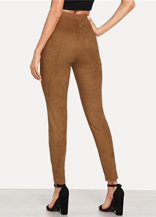Новые замшевые брюки, лосины, леггинсы сalzedonia, италия2 фото