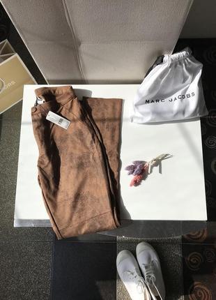 Новые замшевые брюки, лосины, леггинсы сalzedonia, италия3 фото