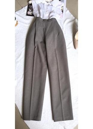 Классические брюки со стрелками, высокая посадка, повседневные, деловые, офисные
