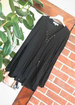 Блузка с шнуровкой и кистями the sting кофта шнуровка рубашка
