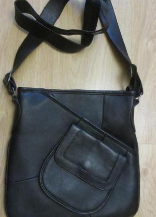 Мужская новая кожаная сумка - планшет.