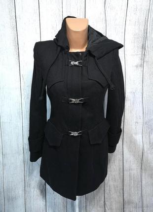 Пальто стильное next, черное, качественно, отл сост!