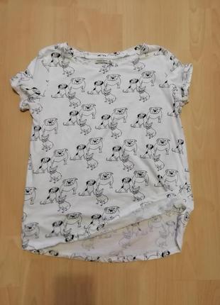 Брендовая футболка с принтом собачки