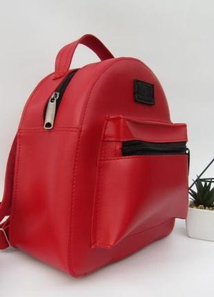 Красный рюкзачек handmade2 фото