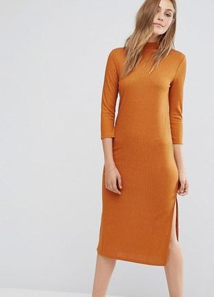 Платье в рубчик vila, размер хс