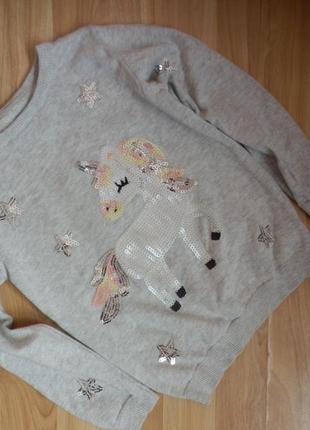 Фирменный свитер primark девочке 6 лет -состояние новой вещи