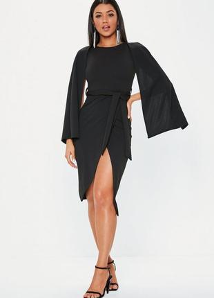 Обалденное миди платье с прорезными рукавами