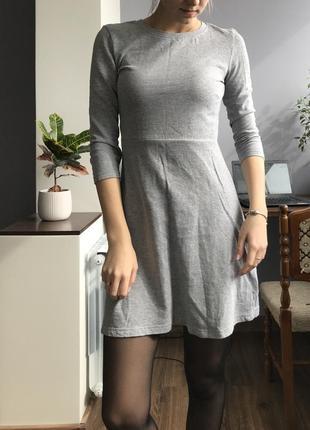 Милое серое платье