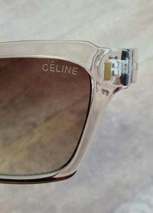 Celine очки женские солнцезащитные в прозрачной оправе