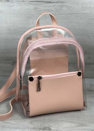 43d55684cba0 Хит 2019! трендовый прозрачный рюкзак лучшего качества силиконовый рюкзачок